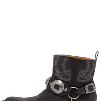 Coconuts Hoss Black Harness Ankle Boots