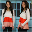 Spring Fever Coral Color Block Ruffled Top