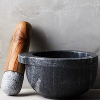 Marble Mortar & Pestle by Anthropologie Carbon Mortar & Pestle Kitchen