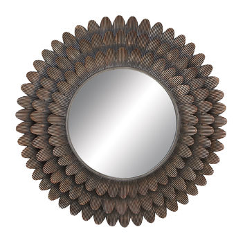 """Wall Accent Mirrors- Metal Mirror 34""""D"""