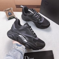 Dior Black Fashion Casual Sneakers Sport Shoes Size 36-45