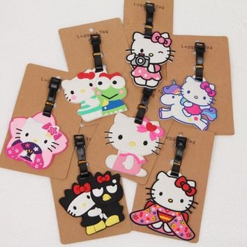 2018 Limited Real Mala For Hello Kitty Unicorn Luggage Bags Accessories Cute Travel Label Straps Suitcase Tag Portable Anime