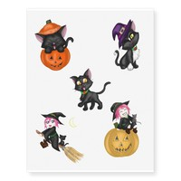 Cute Halloween Temporary Tattoos
