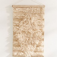 Oversized Diamond Shag Wall Hanging | Urban Outfitters