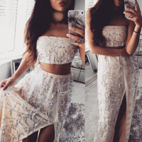 Jasmine Sequin Maxi Two-Piece