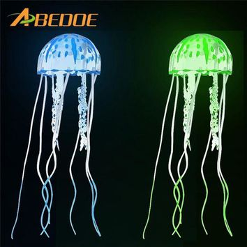 DCCKU7Q ABEDOE Artificial Jellyfish Ornament Fish Tank Decoration Plant for Aquarium Reef Ornament Simulation Glow Fluorescent Plant