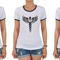 Religion Symbols Graphic Printed Short Sleeves T-shirt WTS_06