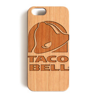 Wood Case, Taco Bell Wood-Pattern Case For iPhone 6 7 Case 4.7'' iPhone 6 7 Plus Case 5.5''