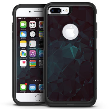 Deep Sea Teal Geometric Shapes  - iPhone 7 or 7 Plus Commuter Case Skin Kit