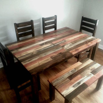 Rustic Dining Table Dining Room Table From AlexFurniture On - Refurbished wood dining room table