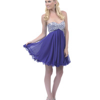 SALE! 2013 Homecoming Dresses - Purple Sequin Beaded Strapless Short Homecoming Dress