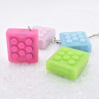 Unlimited Puchi Puchi Keychain Puti Electronic Bubble Keyring Pop infinite air bubble Vent Decompress speaker toy