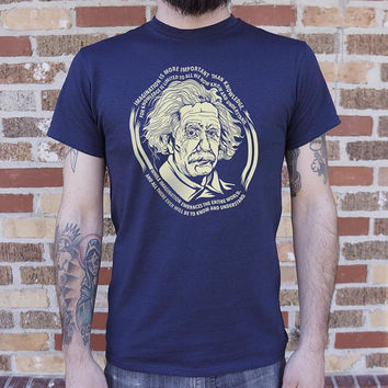 Albert Einstein's Imagination Men's T-Shirt