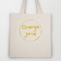 Orange Juice Tote Bag by StevenARTify