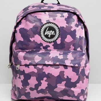Hype Colourful Camo Backpack at asos.com