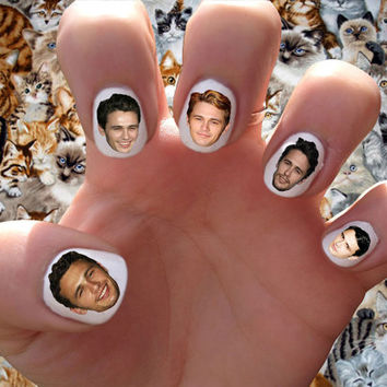 James Franco Nail Decals Transfer Nail Stickers // Heart throb // Freaks and Geeks // General Hospital // Actor //