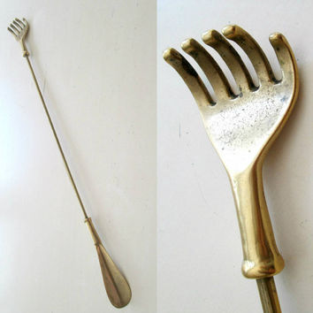 Brass Shoe Horn Back Scratcher Combo