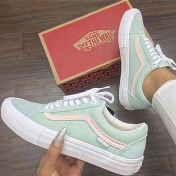 Vans Daniel Lutheran Old Sokol Light Green Sneaker