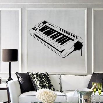Wall Decal Electronic Musical Instrument Piano Music Vinyl Stickers Unique Gift (ig2830)