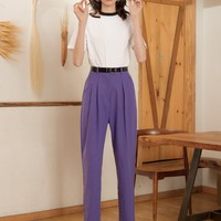 Purple High Waist Pants
