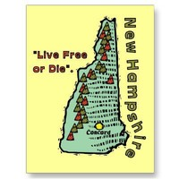New Hampshire NH Motto ~ Live Free or Die Post Card from Zazzle.com