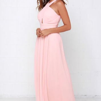 Chimerical Creation Peach Maxi Dress