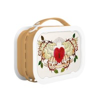 vintage tattoo of a winged heart yubo lunchboxes