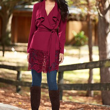 WINE Wrap jacket, skinny jean, boot from VENUS