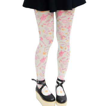 Lolita Sweet Candy Bear Tights