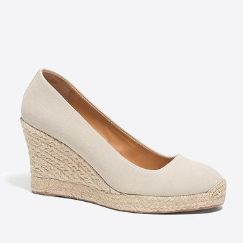 Canvas espadrille wedges : FactoryWomen Wedges | Factory