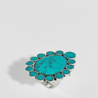 Sacred Hawk semi-precious stone statement ring at asos.com