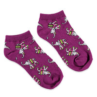 Elephant-Patterned Ankle Socks