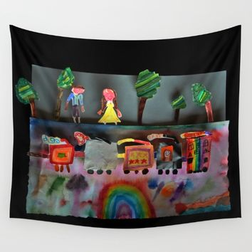 Fantasy Train Wall Tapestry by Azima