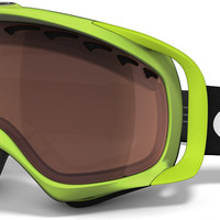 Oakley Sochi Collection Crowbar Snowboard Goggles - Neon Green/Prizm Black Iridium Lens
