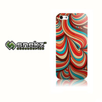 Bright Waves Design iPhone 4 4s, iPhone 5/5s, Iphone 5c Hard Case Cover
