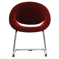 Red Evelyn Accent Chair, Pair