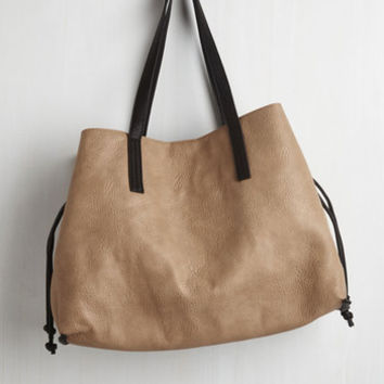 In-Depth Percussion Bag in Taupe by ModCloth