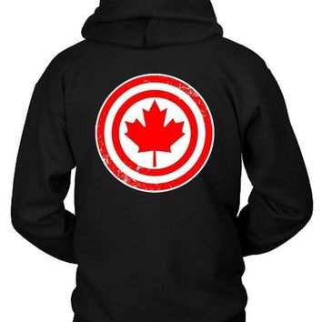 ESBH9S Marvel Captain Canada Hoodie Two Sided