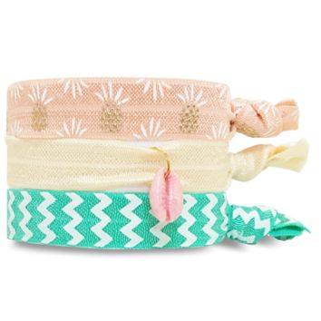 Wategos Metallic Hair Tie and Bracelet Set by Skin Feelings