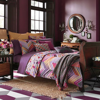 Collier Campbell Ziggurat Reversible Duvet Cover Set