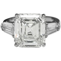 6.02 ct Diamond Platinum Engagement ring