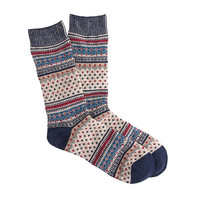 J.Crew Mens Anonymous Ism Small Fair Isle Socks