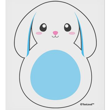 """Cute Bunny with Floppy Ears - Blue 9 x 10.5"""" Rectangular Static Wall Cling by TooLoud"""