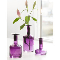 Pava Purple Candle Holder in Assorted Sizes design by Sagaform