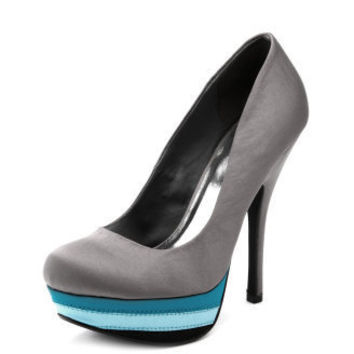 Satin Color Block Platform Pump
