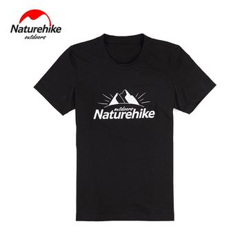 Brand Naturehike 2017 Outdoor hiking Sports stand collar T-shirts Running sports shirts Breathable quick drying perspire