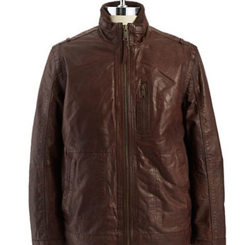 Andrew Marc Vandam Leather Jacket