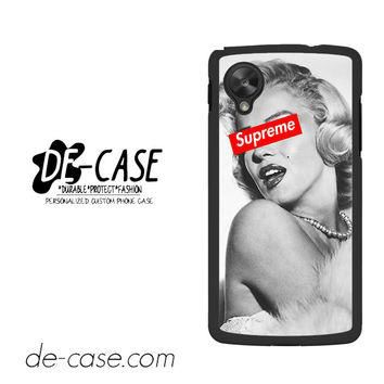 Merlyn Monroe Supreme For Google Nexus 5 Case Phone Case Gift Present YO