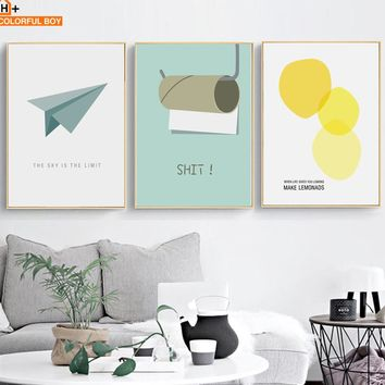 Modern SHIT! Minimalism Canvas Wall Art for the Kitchen and Bathroom
