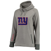 Women's New York Giants Pro Line Gray Laguna Cowl Neck Pullover Hoodie